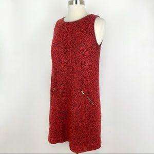 LOFT Wool Blend Sleeveless Boucle Shift Dress, 4